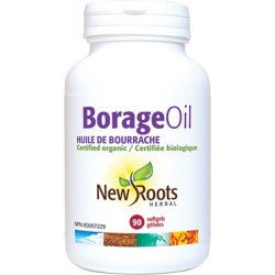 NROOTS Borage Oil 1000mg 90 capsules