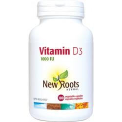 NROOTS Vitamin D3 1000 IU - 180 caps -
